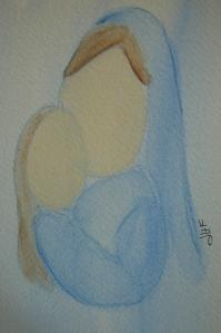 Mother with child. Artist Julie Harmon Ferrucci 2008